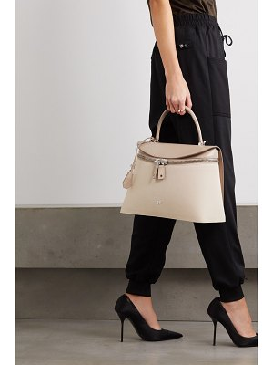 Tom Ford metro medium canvas and leather tote