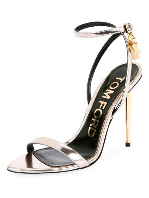 Tom Ford Mixed Metallic Lock Sandals