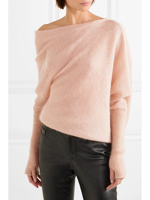 Tom Ford off-the-shoulder mohair and silk-blend sweater