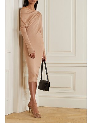Tom Ford one-shoulder cashmere and silk-blend midi dress
