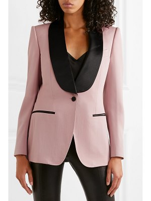 Tom Ford silk satin-trimmed wool-faille blazer