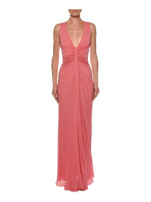 39d0d13afee Aidan Mattox Sleeveless Beaded Lace Column Gown