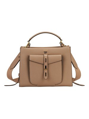 Tom Ford Small Leather Top-Handle Bag