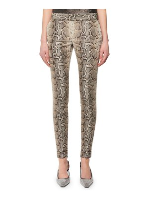 Tom Ford Snake-Print Stretch-Cotton Twill Skinny Pants