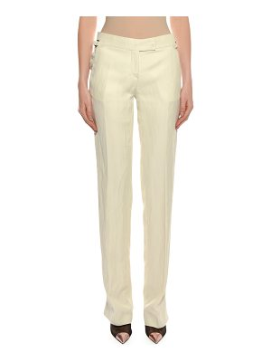 TOM FORD Straight-Leg Viscose-Linen Pants