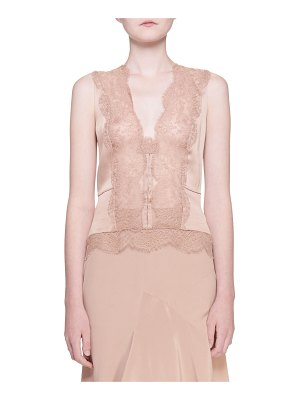 Tom Ford Stretch Charmeuse Lace-Front Camisole