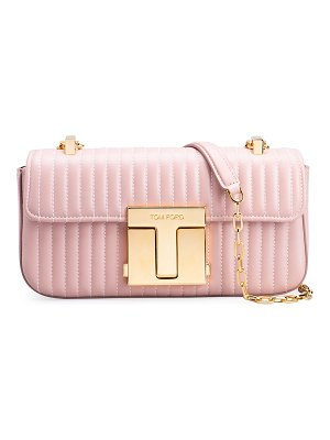 Tom Ford T-Clasp Medium Quilted Shoulder Bag