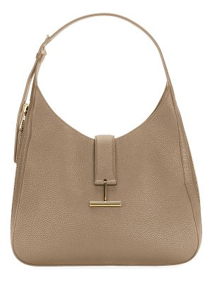 Tom Ford Tara Grain Lux Calf Shoulder Hobo Bag