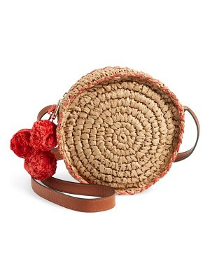 Tommy Bahama pirro woven straw crossbody bag