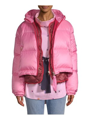 Tommy Hilfiger Collection multicolor double down puffer coat