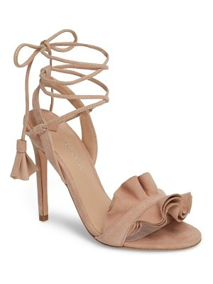 TONY BIANCO Kalipso Ruffled Wraparound Sandal