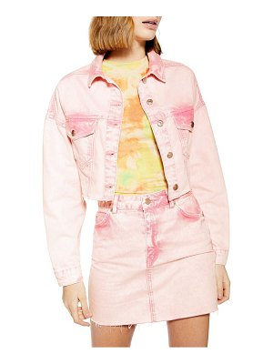 Topshop acid wash jacked denim jacket