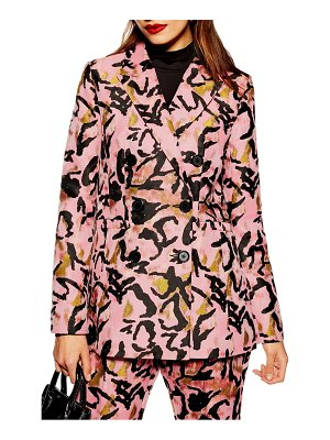 Topshop animal jacquard jacket