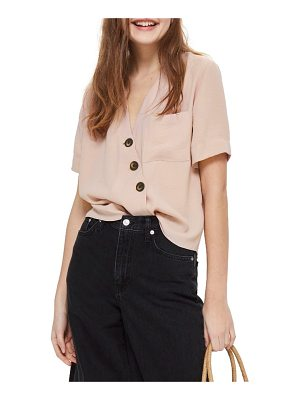 TOPSHOP Ashley Asymmetrical Blouse