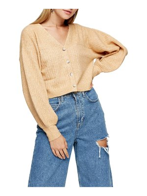 Topshop balloon sleeve crop cardigan