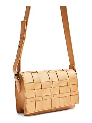 Topshop basket weave faux leather bag
