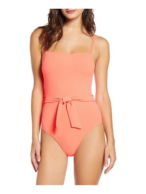 Topshop belted one-piece swimsuit