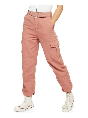 Topshop belted utility jogger pants