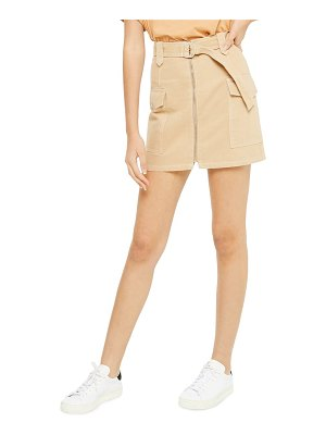 Topshop belted utility skirt