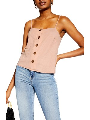 Topshop bow back button camisole