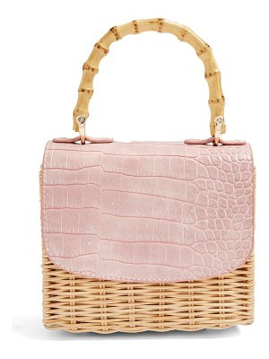 Topshop boxy woven straw shoulder bag
