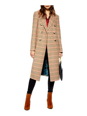 Topshop brushed long coat