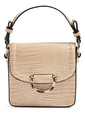 Topshop carrie croc shoulder bag