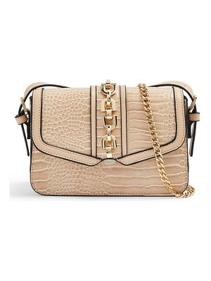 Topshop casey chain detail croc embossed crossbody bag