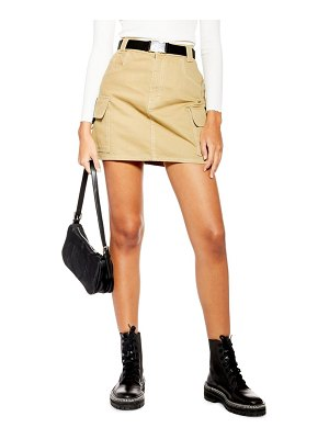 Topshop clip buckle denim skirt