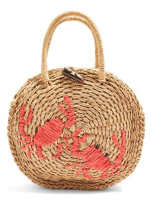 Topshop crab straw mini tote bag