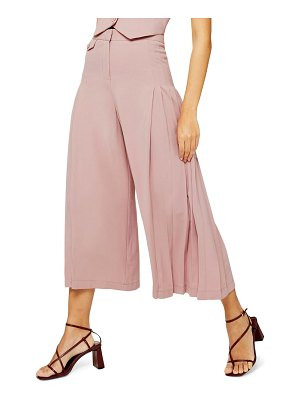 Topshop crop wide leg trousers
