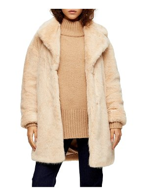 Topshop eclipse luxe faux fur coat