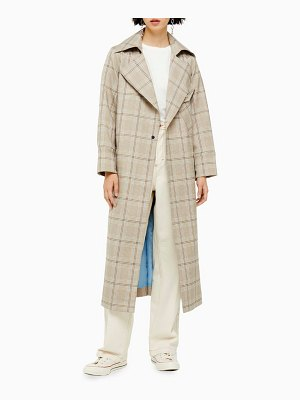 Topshop editor check trench coat