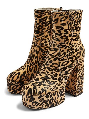 Topshop electric genuine calf hair platform boots