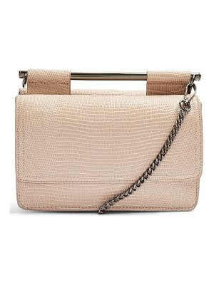Topshop embossed faux leather crossbody bag