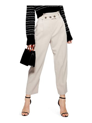 Topshop emilie paperbag tapered trousers