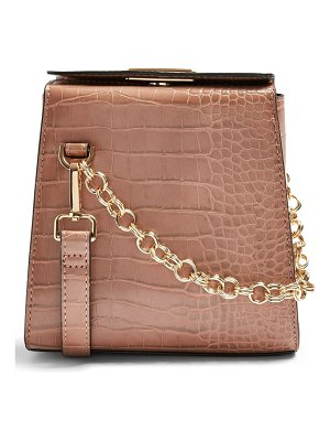 Topshop sami croc embossed shoulder bag