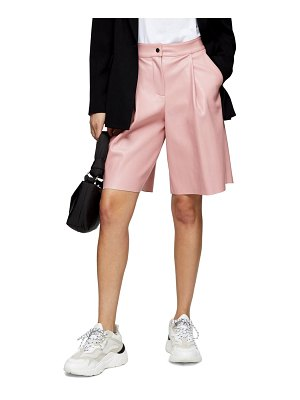 Topshop faux leather culotte shorts