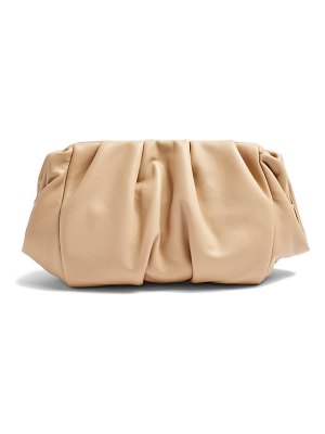 Topshop frame ruched clutch