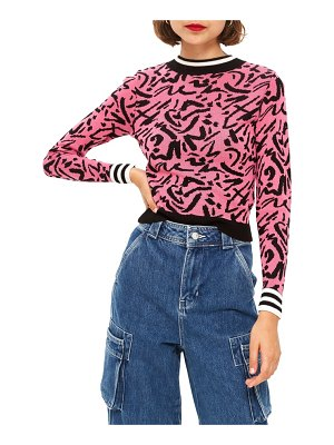 Topshop graffiti jacquard sweater