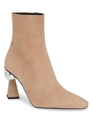 Topshop hexagon statement heel bootie