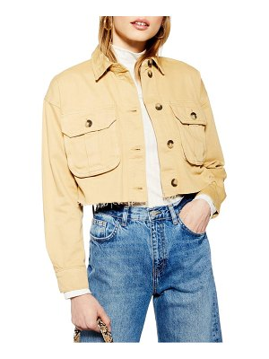 Topshop jack raw hem shirt jacket