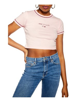 Topshop keep it cute cropped tee