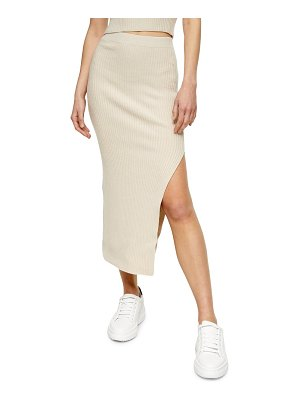 Topshop knit midi skirt