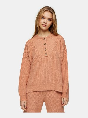 Topshop knitted sweater in rose pink