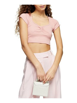Topshop lettuce edge crop top