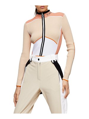Topshop sno long sleeve knit bodysuit