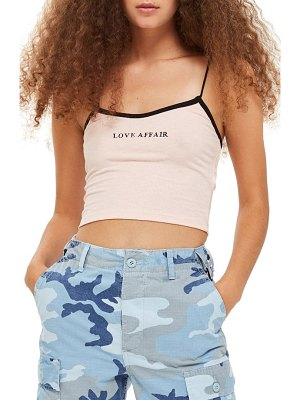 Topshop love affair crop camisole