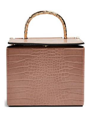 Topshop meg boxy faux leather crossbody bag