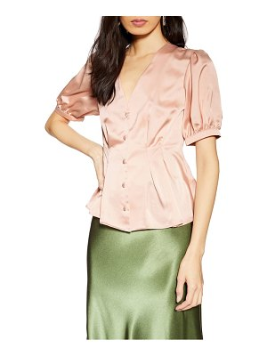 Topshop pleat button blouse